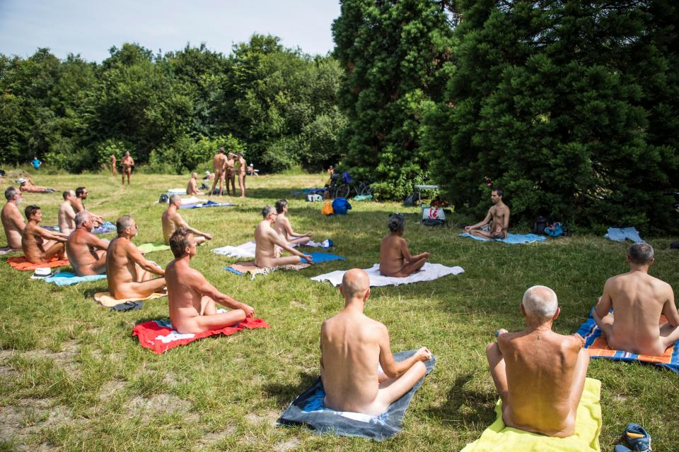 French nudists let it all hang out for naked yoga at annual naturists' picnic in Paris park (via The Sun)